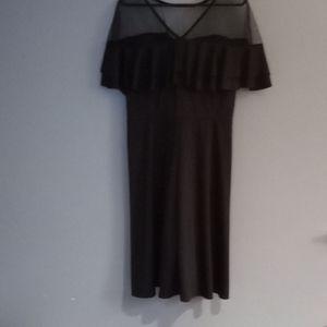 Boohoo midi off the shoulder mesh top dress 3X